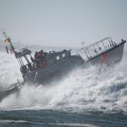 Küstenwache in schwerer See